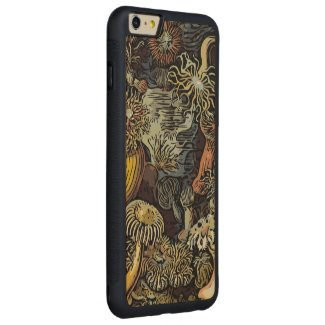 Unique Vintage Abstract Flowers Carved® Maple iPhone 6 Plus Bumper