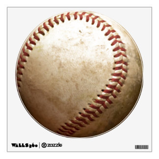 Unique Vintage Baseball Circle Wall Decal