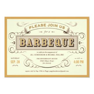 """Unique Vintage BBQ Invitations 5"""" X 7"""" Invitation Card"""
