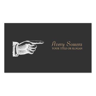 Unique Vintage Black Business Business Card Template