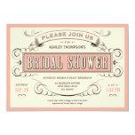 "Unique Vintage Bridal Shower Invitations 5"" X 7"" Invitation Card"