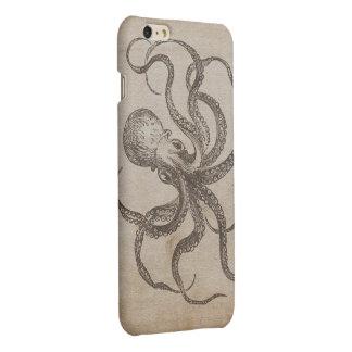 Unique Vintage Octopus Sea Creatures Ocean Animals Matte iPhone 6 Plus Case