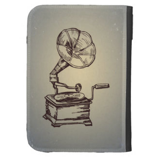 Unique Vintage Phonograph. Retro Style Gramophone Case For The Kindle
