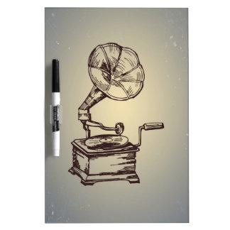 Unique Vintage Phonograph. Retro Style Gramophone Dry Erase Whiteboard