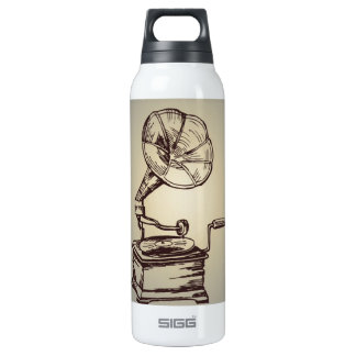 Unique Vintage Phonograph. Retro Style Gramophone 16 Oz Insulated SIGG Thermos Water Bottle