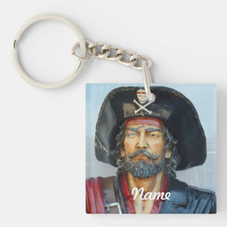 Unique vintage Pirate Double-Sided Square Acrylic Keychain
