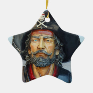Unique vintage Pirate Double-Sided Star Ceramic Christmas Ornament