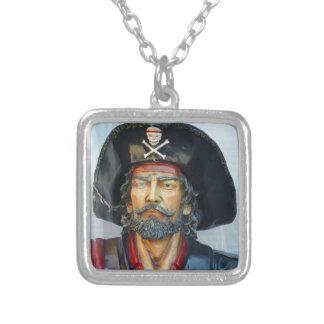 Unique vintage Pirate Silver Plated Necklace