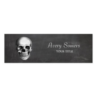 Unique Vintage Skull Etching Grungy Business Card Template
