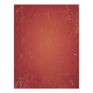 Unique Vintage Style Red Paper Shabby Grunge Color Letterhead Template