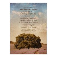 Unique Vintage Tree Lavender Engagement Party Card