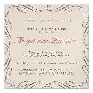 Unique Vintage Wedding Shower Invitation