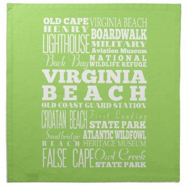 Beach Themed Unique Virginia Beach, Virginia Gift Idea Cloth Napkin