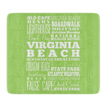 Beach Themed Unique Virginia Beach, Virginia Gift Idea Cutting Board