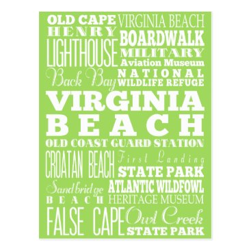Beach Themed Unique Virginia Beach, Virginia Gift Idea Postcard