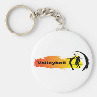 Unique Volleyball Emblem Keychain