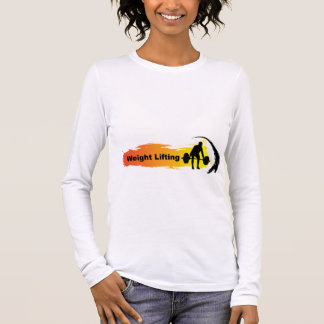 Unique Weight Lifting Logo Long Sleeve T-Shirt