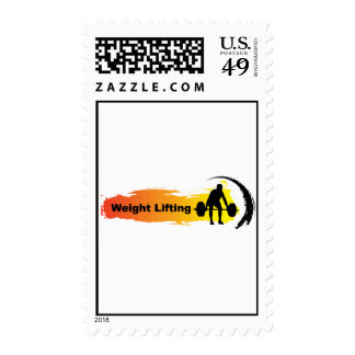 Unique Weight Lifting Logo Postage