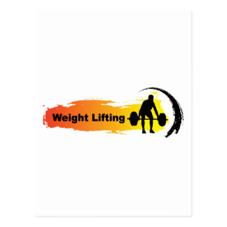 Unique Weight Lifting Logo Postcard