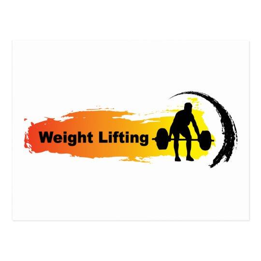 Unique Weight Lifting Logo Postcard