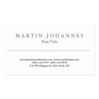 Unique white amazing professional business card