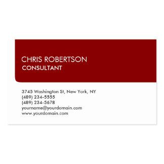 Unique White Dark Red Stripe Attractive Business Card
