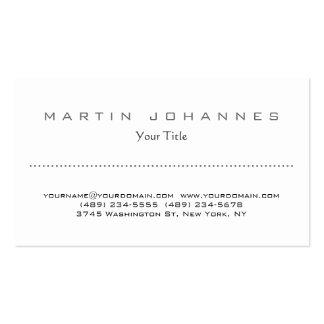 Unique white plain professional business card