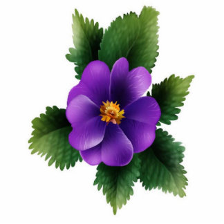 Unique wild-purple-rose, photo sculture cutout