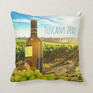 Unique Wine and Grapes Tuscan Vineyard Throw Pillow