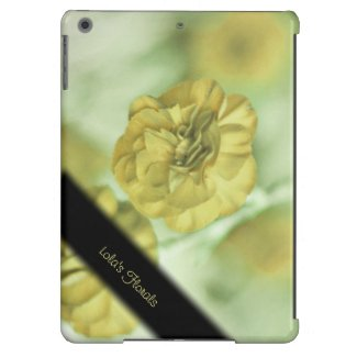 Unique Yellow Flowers Personalized iPad Air Case