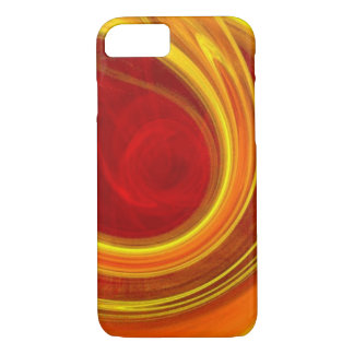 unique yellow marble sun rays laser lines ombre iPhone 7 case