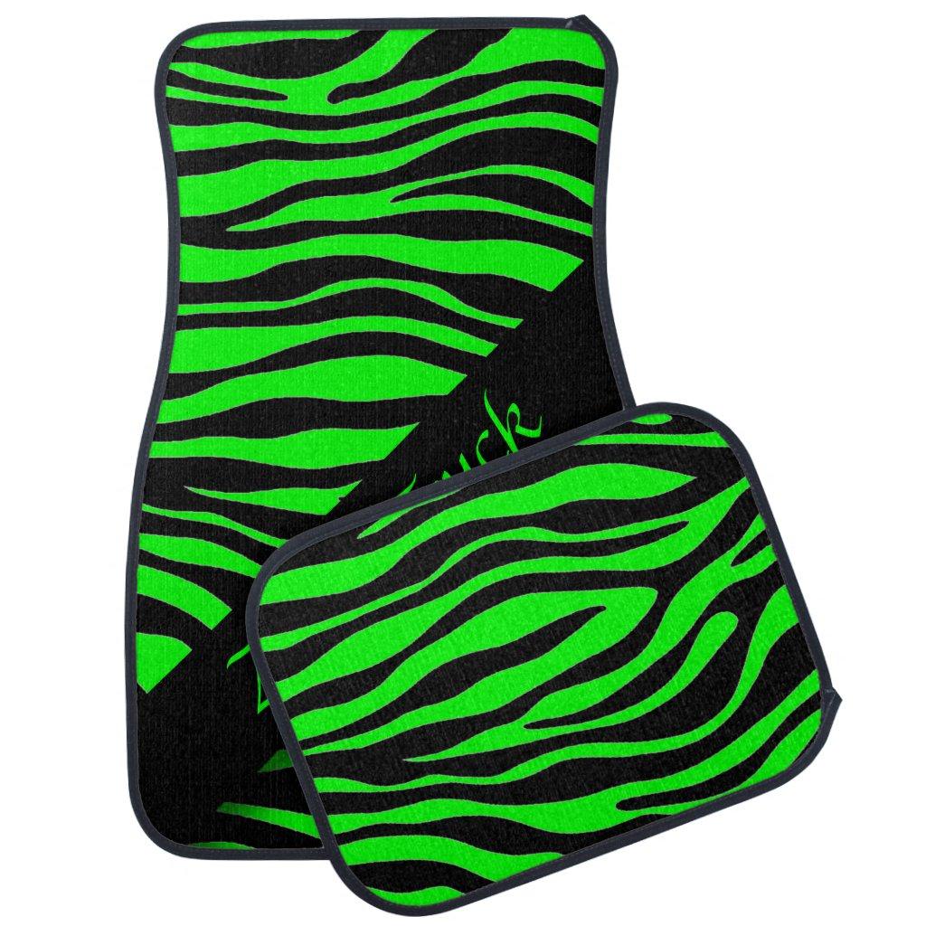 Unique Zebra Print Design Personalized Car Mat