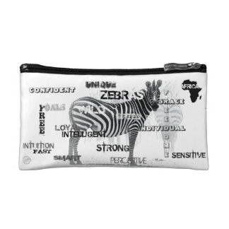 Unique Zebras Makeup Bag
