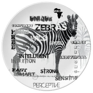 Unique Zebras Porcelain Plate