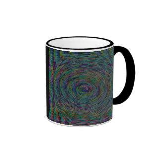 Unique Zigzag circle pattern coffee mug