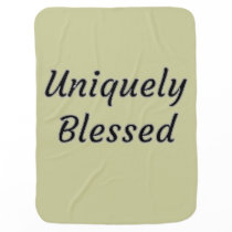 Uniquely Blessed Baby Blanket