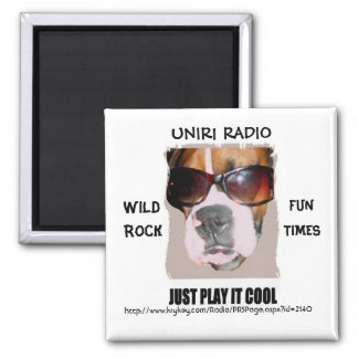 UNIR1 RADIO MAGNET WITH BOXER HEAD
