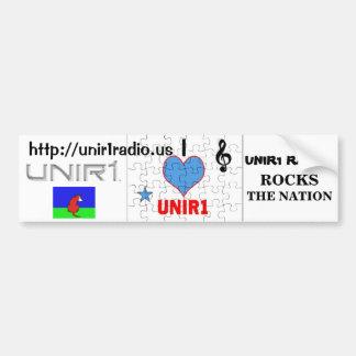 UNIR1 RADIO ROCKS THE NATION BUMPER STICKER CAR BUMPER STICKER