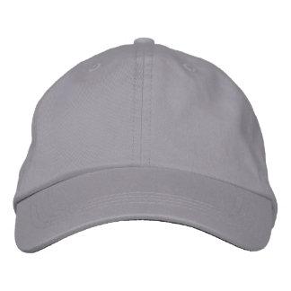 Unisex Adjustable Caps Grey Embroidered Hats