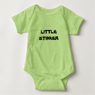 Unisex Baby Grow LITTLE STINKER Baby Bodysuit