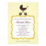 Unisex Baby Shower Invitation with Stroller