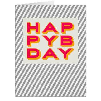 Unisex Blank Happy Bday Typography Card