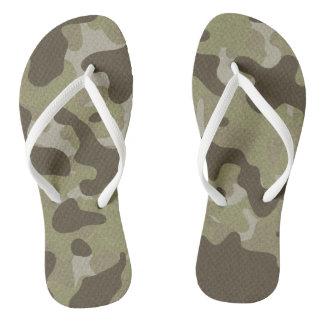 Unisex Camo Flip Flops