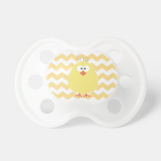 Unisex Chevron and Chick Pacifier