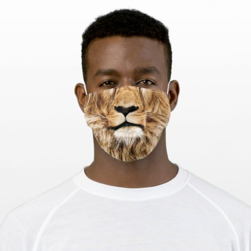 Unisex Cotton Mask with Realistic Lion Face