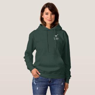 Unisex Dark Hooded  Sweatshirt w/Vintage Logo