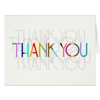 Unisex en blanco le agradecen tarjeta de la