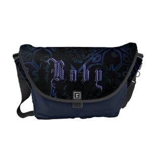 Uni Gothic Neon Blue Baby Custom Diaper Bag
