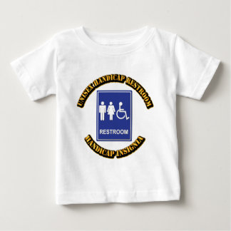 Unisex Handicap Restroom with Text Baby T-Shirt