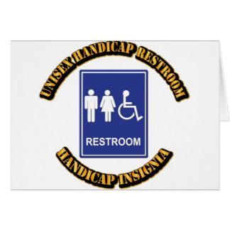 Unisex Handicap Restroom with Text Card